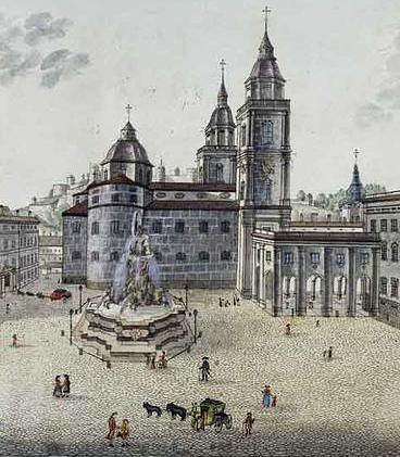 August Franz Heinrich von Naumann, Der Residenzplatz, um 1791; Salzburg-Museum